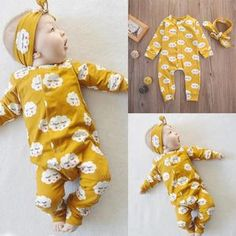 Cheap newborn baby, Buy Quality rompers rompers directly from China baby newborn Suppliers: Newborn Baby Kids Girls Long Sleeve playsuit Jumpsuit Romper Outfits Set Kids Outfits Girls, Toddler Outfits, Baby Boy Outfits, Kids Girls, Baby Girls, Baby Boy Fashion, Fashion Kids, Long Sleeve Playsuit, Baby Jumpsuit