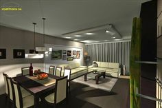 living/dining design 2 Bedroom Apartment, Conference Room, This Is Us, Dining, Building, Table, House, Furniture, Home Decor