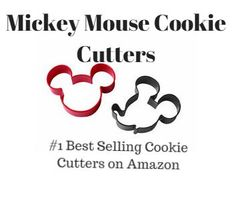 How many ideas can you come up with for Mickey Mouse cookie cutters besides just cookies?