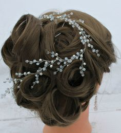 Prom hair accessory Hair Vine Bridal Head piece Bridal by LeraLem