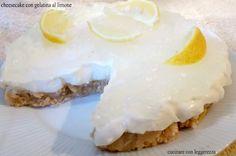 Cheesecake con gelatina al limone