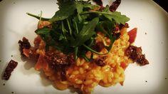 Risotto with serrano ham and dried tomatoes based on mead. :) | Risotto z szynką serrano i suszonymi pomidorami na bazie miodu pitnego :)