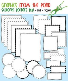 I think this would make adorable recipe pages  Scalloped Borders and Frames - Graphics From the Pond