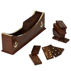 Wooden Dominoes Set Boat Tray Unique Handcrafted Toys And Board Games For Adult ShalinIndia http://www.amazon.com/dp/B00L482E2E/ref=cm_sw_r_pi_dp_jRgXvb1B0GT38