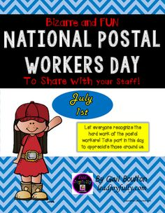 Let everyone recognize the hard work of the postal workers! Take part in this day to appreciate those around us. #CelebrateEveryday