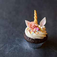 Adorable unicorn themed cupcakes are easy to make by sculpting edible gum paste unicorn horns and ears. Add a few sprinkles and maybe a flower, and you have a truly magical cupcake! See it HERE! Unicorn Cupcakes Tutorial submitted by Tikkido You May Also LikeGum Paste Pumpkin Cupcake TopperStrawberry Lemon Crumb BarsPerfect Vanilla Cupcakes from...