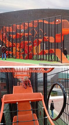 Love the use of (very little) space in this vertical playground by Carve. #urbanplay