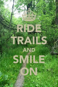 The smile is important, go out and enjoy!  #mtb #trails #ride