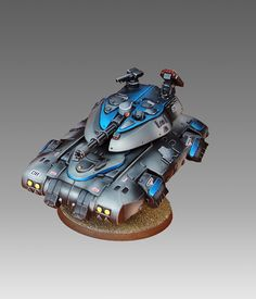 Heavy Gear Blitz - Hetairoi Standard Hovertank - Humanist Alliance - Painted by Angel Giraldez