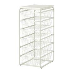 ALGOT Stamme/6 trådkurver/topphylle IKEA Delene i ALGOT-serien kan kombineres på mange ulike måter og er derfor enkle å tilpasse etter behov og plass.