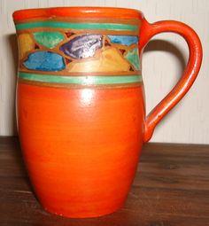 Joyous Pottery art deco style jug
