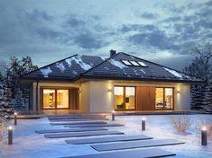 Zdjęcie projektu Goran 3 BSE1109 My House Plans, Small House Plans, Beautiful House Plans, Beautiful Homes, Modern Bungalow House, Home Fashion, Planer, Teak, House Design
