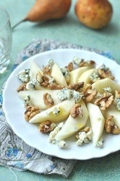 Kéksajtos körte-tál - izgalmas saláta recepet, gluténmentes