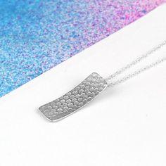 Sterling Silver Polka Dot Necklace Pendant. Minimalist Everyday Necklace 25.00