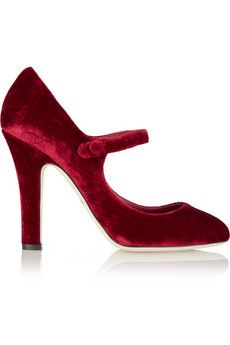 Dolce & Gabbana Velvet Mary Jane pumps | NET-A-PORTER