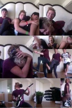 Heres a quick summary of the first 5SOS twitcam of the year in case you missed it: -Greg the hand -Give Nickelback a chance -Ashtons chicken sneeze -5sos dancing -horse head -screaming -more screaming -Cake moment -Mashton moment #TypicalTwitcamFor5SOS.