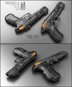 Vamp by peterku on DeviantArt Anime Weapons, Sci Fi Weapons, Weapon Concept Art, Armor Concept, Fantasy Weapons, Weapons Guns, Guns And Ammo, Cyberpunk, Armas Airsoft