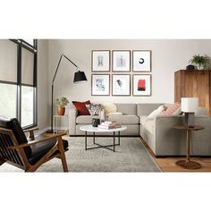 Slim End Tables in Colors - Modern End Tables - Modern Living Room Furniture - Room & Board Double Chaise Sectional, Living Room Sectional, Modern Sectional, Living Room Chairs, Lounge Chairs, Room And Board Living Room, Living Rooms, High Chairs, Sectional Sofas