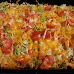 Made this for dinner tonight. Sooooo good!!      Taco Casserole Recipe 15 | Just A Pinch Recipes