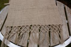 Your place to buy and sell all things handmade Burlap Crafts, Fabric Crafts, Jute, Burlap Table Runners, Table Linens, Rustic Wedding, Knots, Artsy, Textiles