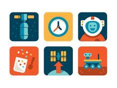 NASA icons / Flat icon design / #flat #icon