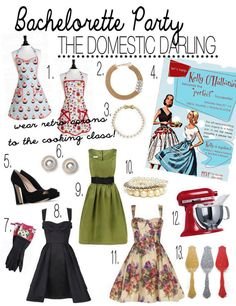 Alexandra Hansen: Bridesmaid Boot Camp: Bachelorette Party for the Domestic Darling Bachelorette Party Themes, Bachlorette Party, 1950s Bridal Shower, Alice Tea Party, Retro Housewife, Perfect Wife, Pin Up Style, 60s Style, Sister Wedding