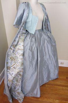 18th century; robe francaise; 17** Silk, Carnival, venice, Carnevale; LaurenRossi.com