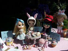 Alice in wonderland blythe doll party by opaltears / orchidbones.com, via Flickr
