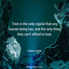 is the great equalizer. We all have only so much, and it can't be replaced once it's gone. Carpe Diem Quotes, Self Development Courses, Brian Tracy, Success Coach, Time Management, Make You Smile, Great Quotes, Wise Words, Leadership