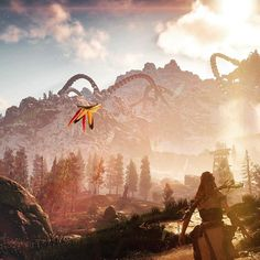 The butterfly in #horizonzerodawn Beautiful #ps4