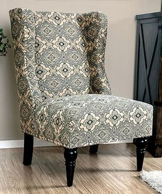 Another great find on #zulily! Damask Glendale Wingback Chair #zulilyfinds