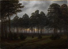 Caspar David Friedrich - The Times Of Day: The Evening