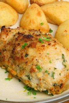 BAKED GARLIC PARMESAN CHICKEN BREASTS