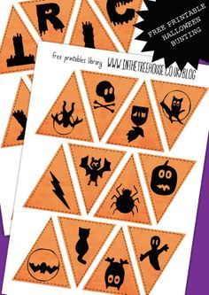 BLOG VERSION FREE PRINTABLE Halloween Bunting - TRICK or TREAT