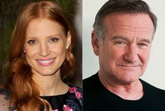 Jessica Chastain and Robin Williams