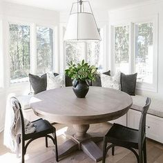 L Shaped Window Seat Design Ideas Dining Room Sets, Dining Room Design, Corner Dining Nook, Corner Bench Dining Table, Dinning Nook, Kitchen Nook Bench, Banquette Table, Dining Bench With Back, Sunroom Dining