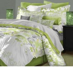 Karin Maki Lime Green Zebra Bedding - Best Sales and Prices Online! Home Decorating Company has Karin Maki Lime Green Zebra Bedding Lime Green Bedding, Lime Green Bedrooms, Bedroom Green, Bedroom Colors, Master Bedroom, Bedroom Decor, Bedroom Ideas, Zebra Bedding, Gray Bedspread