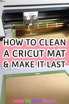How To Clean A Cricut Mat & Make It Last Longer - You are in the right place about Cricut beginner Here we offer you the most beautiful pictures about the Cricut free you a Cricut Heat Transfer Vinyl, Iron On Cricut, Cricut Iron On Vinyl, Cricut Mat, Cricut Craft Room, Cricut Banner, Cricut Cards, How To Use Cricut, Cricut Help