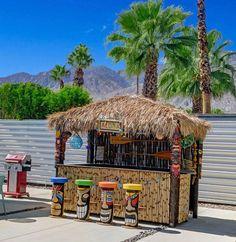 Custom hand-made tiki bars, tiki huts, hot tub and patio cabanas! Use our tiki bars outdoor or indoor to bring a tropical feel to your party or event! Outdoor Tiki Bar, Outdoor Cafe, Outdoor Garden Bar, Tiki Bars, Backyard Bar, Patio Bar, Pool Bar, Tiki Bar Decor, Tiki Bar Stools