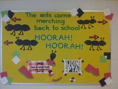 """""""The Ants Come Marching Back to School..."""" Bulletin Board Idea"""