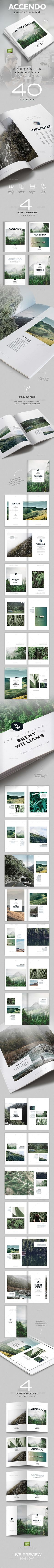 Accendo - Portfolio / Photobook / Brochure / Catalog - 40 Pages - A4 and Letter