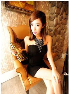 Korean Sexy Club Tube Dress