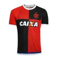 15-16 Flamengo Cheap Away Red&Black Replica Jersey [A923]