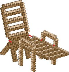 Beach Chair - Beach Time Perler Project Pattern
