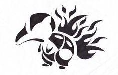 Tribal cyndaquil tattoo!!!