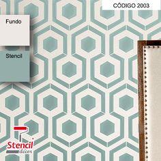 Colmeia – Stencil Decorativo (molde para pintura) – 2003 – Stencil Decor