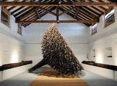 Willow Sculptures by Finnish environmental artist Jaakko Pernu.