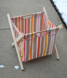 Tutorial: Fold-up laundry hamper