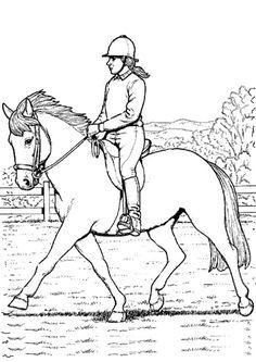 Ausmalbilder Pferde Turnier - Ausmalbilder Pferde Kostenlos Zum Ausdrucken