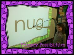 Nonsense Word Quick Read Slideshow... Practice nonsense words and increase the speed as students get better!  FREEBIE!  Primary Possibilities: Nonsense Word Freebie!